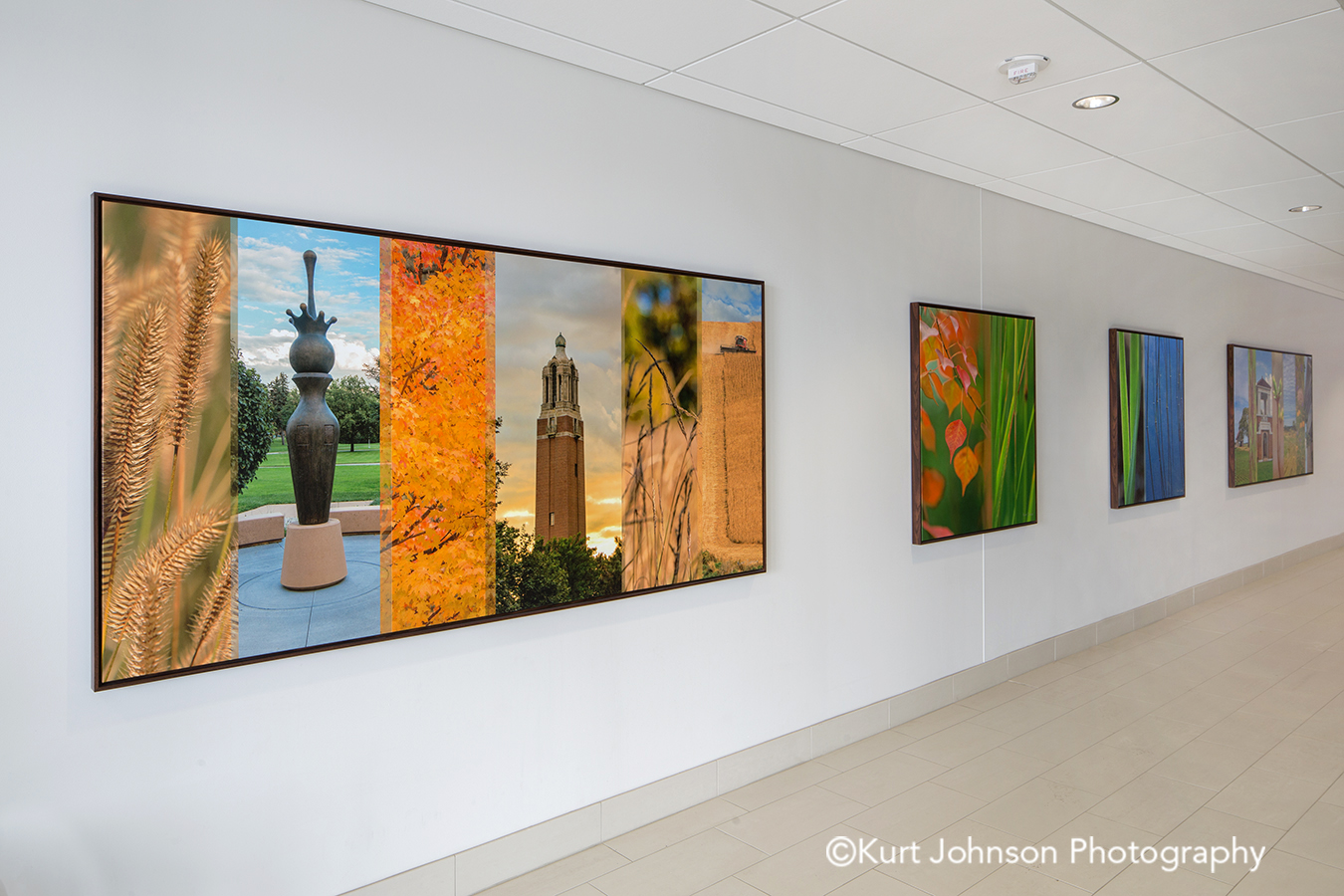 Brooking SD healthcare installation install gallery wrapped framed canvas midwest botanicals custom imagery