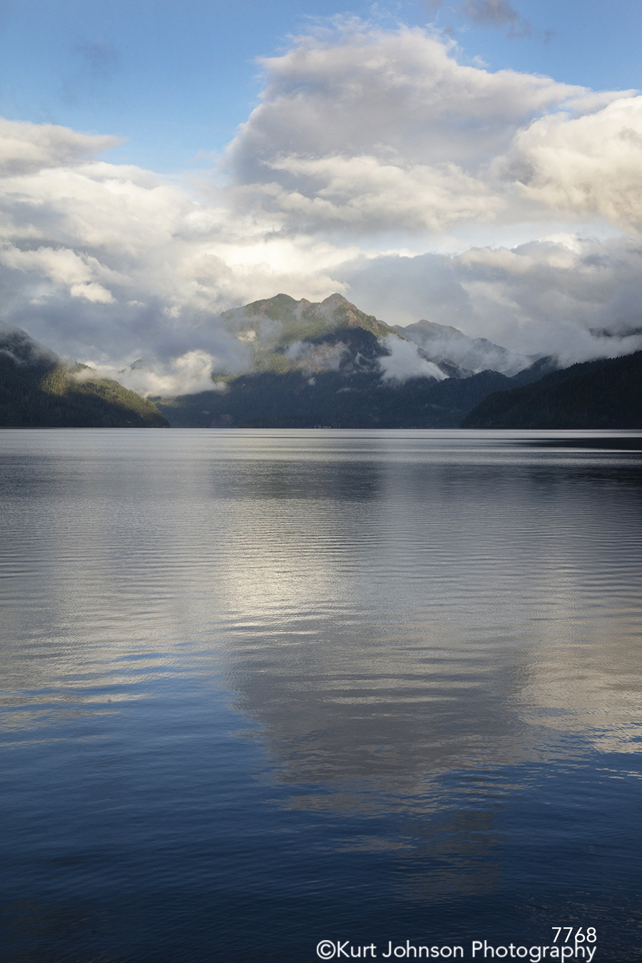 water ocean waterscape reflection clouds sky mountains blue pacific northwest