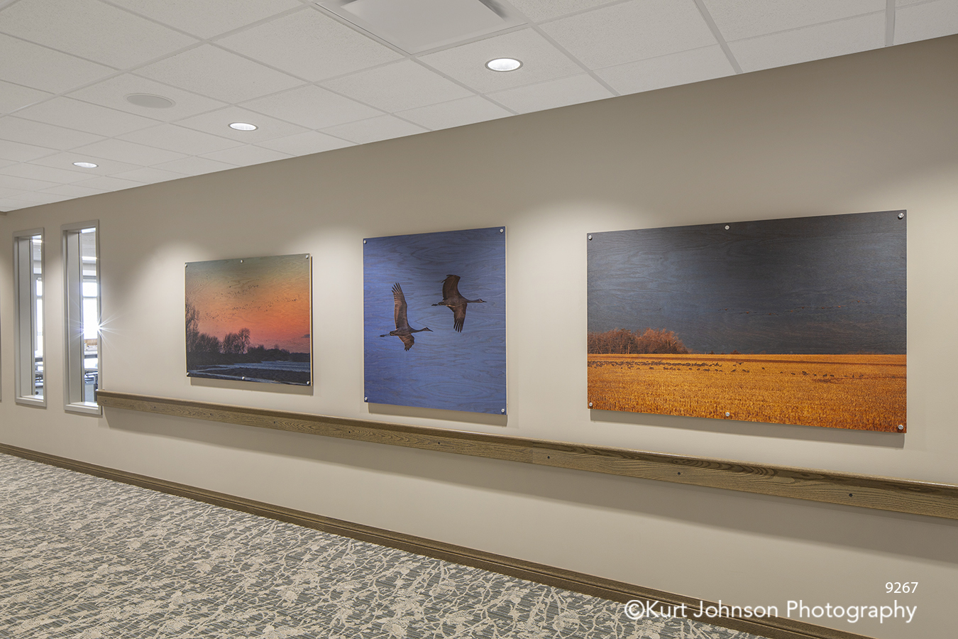 Brookstone Gardens assisted senior living facility Kearney NE landscape print to wood