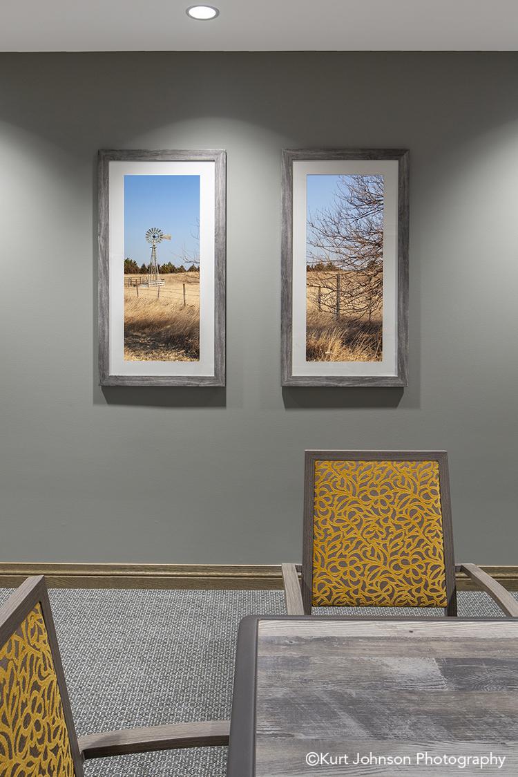Brookstone Garden Install installation framed landscape art midwest