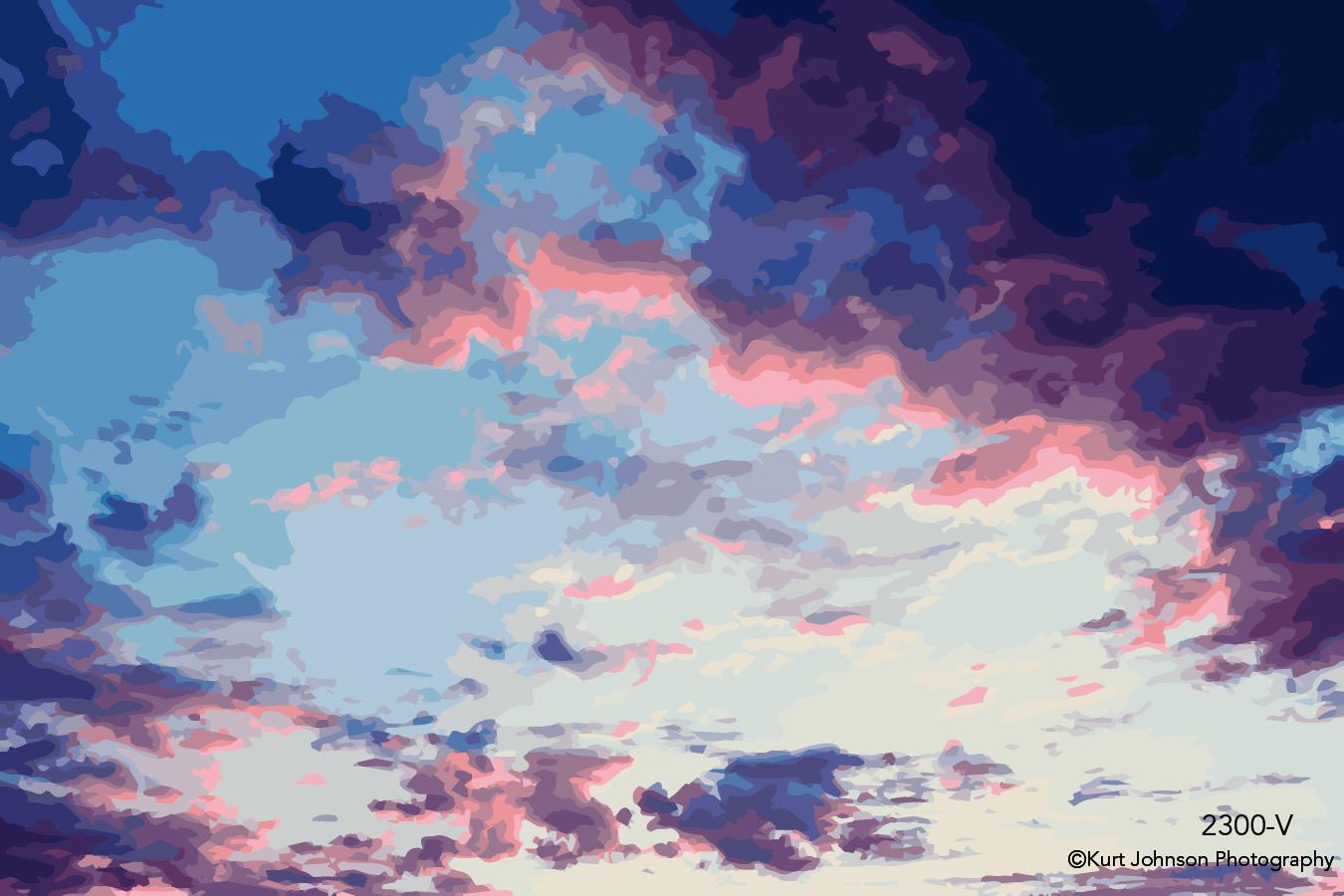 pink blue purple sky clouds vector