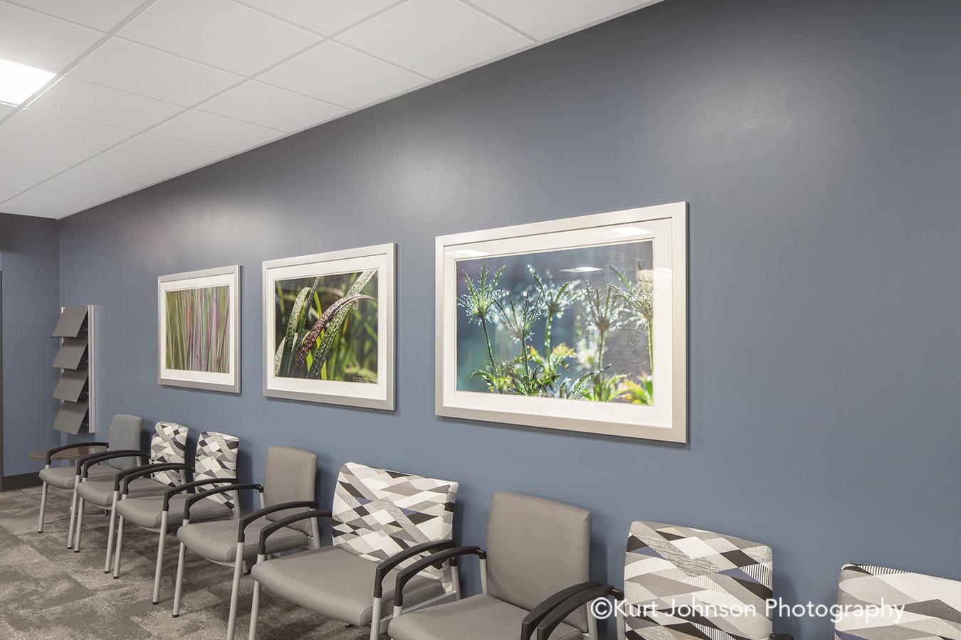 Methodist Jennie Edmundson Hospital Council Bluffs Iowa Framed Art Flower Botanical Healthcare Installation