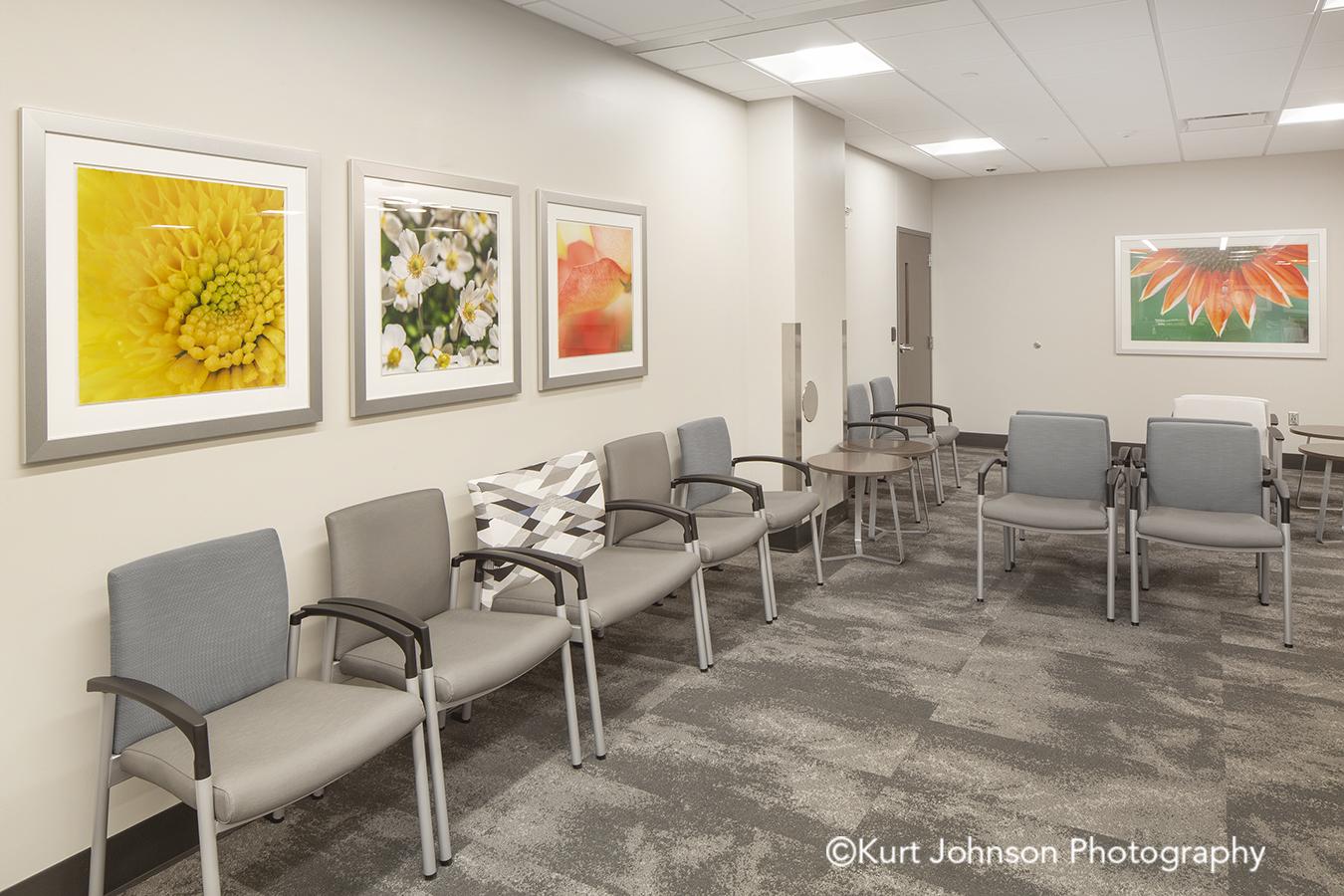 Methodist Jennie Edmundson Hospital Council Bluffs Iowa Framed Art Flower Flowers Botanicals Healthcare Installation