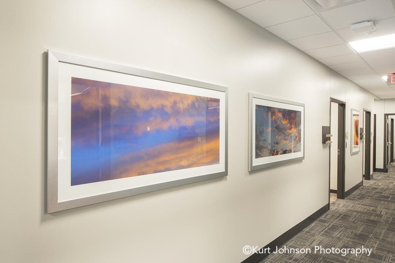Methodist Jennie Edmundson Hospital Council Bluffs Iowa Framed Art Clouds Landscape Landscapes Sky Healthcare Installation