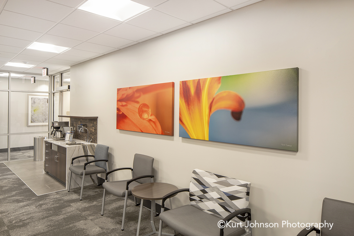 Methodist Jennie Edmundson Hospital Council Bluffs Iowa Framed Art Flower Flowers Botanicals Healthcare Installation
