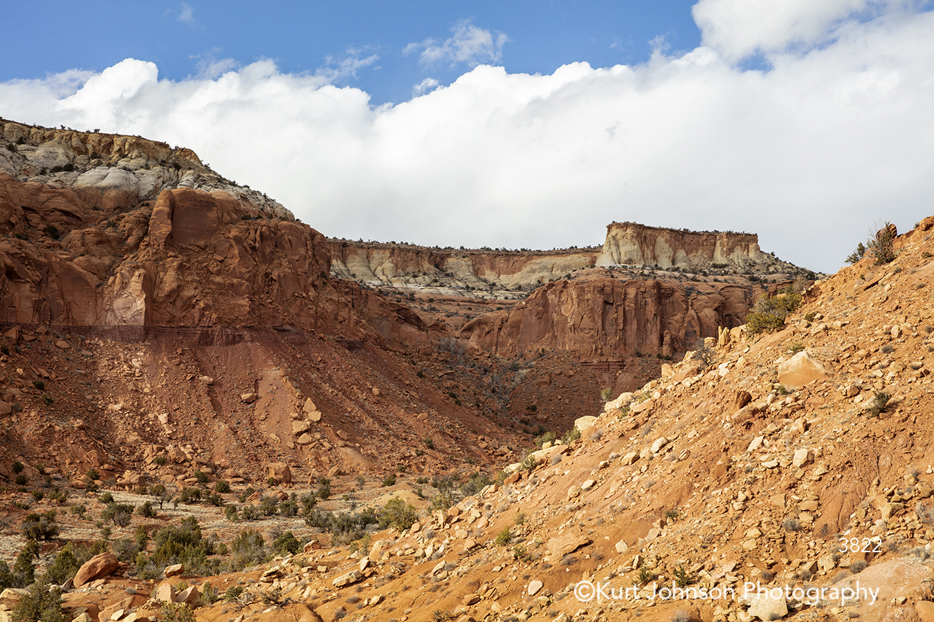 southwest santa fe new mexico desert mountain landscape brown blue sky clouds