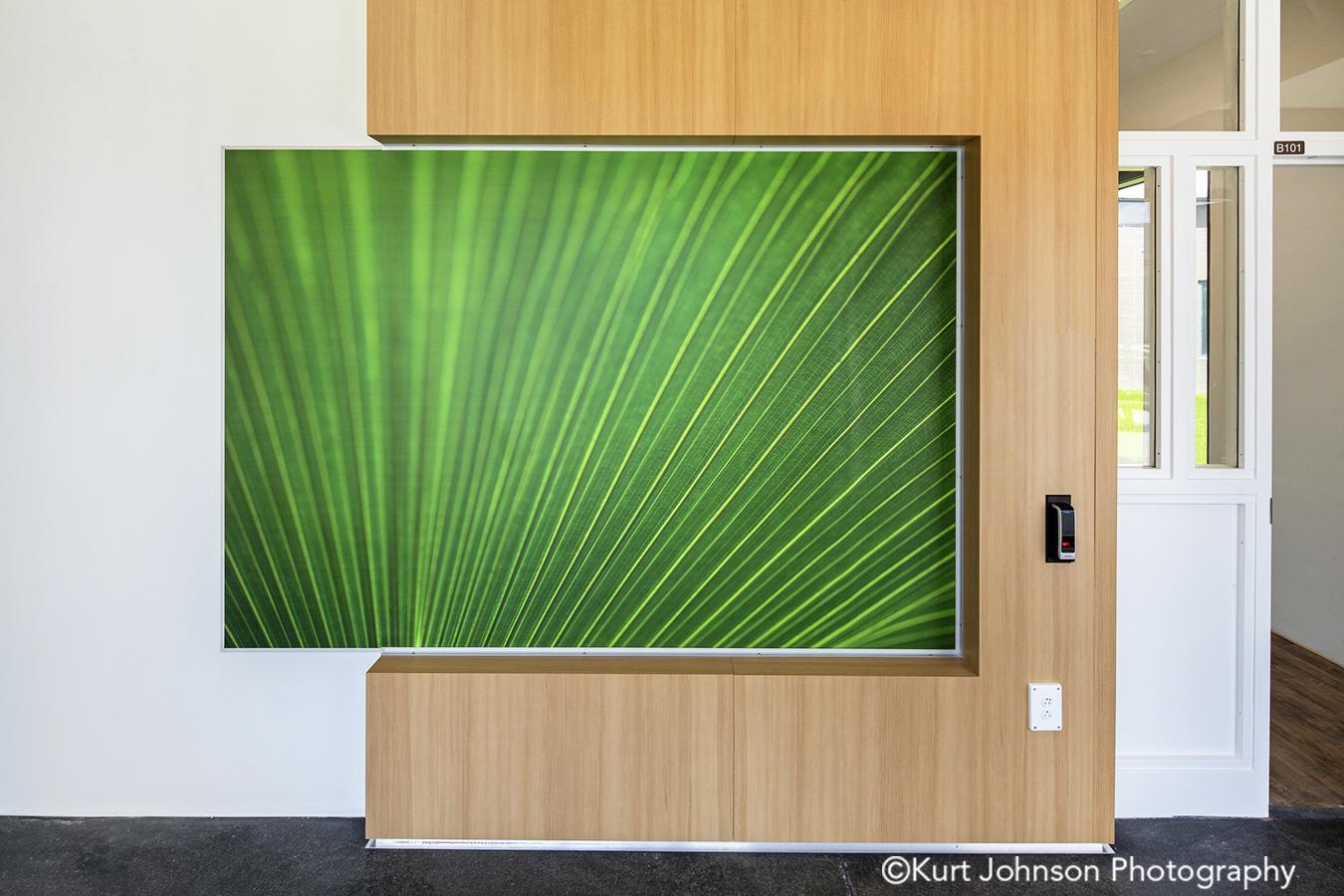 fulton state hospital missouri mo behavioral heath Koroseal vinyl wallcovering green grass corridor hallway wayfinding art install installation