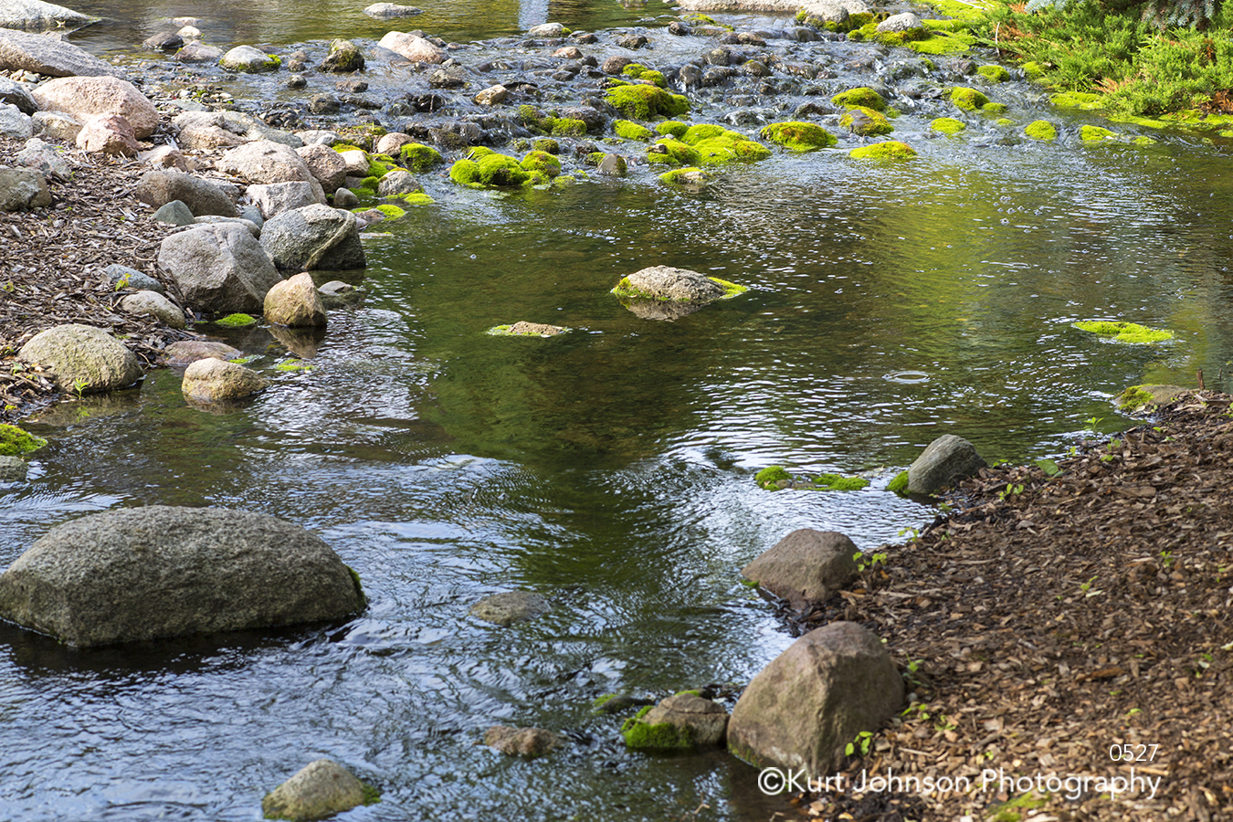 water waterscape rocks stone river stream green blue