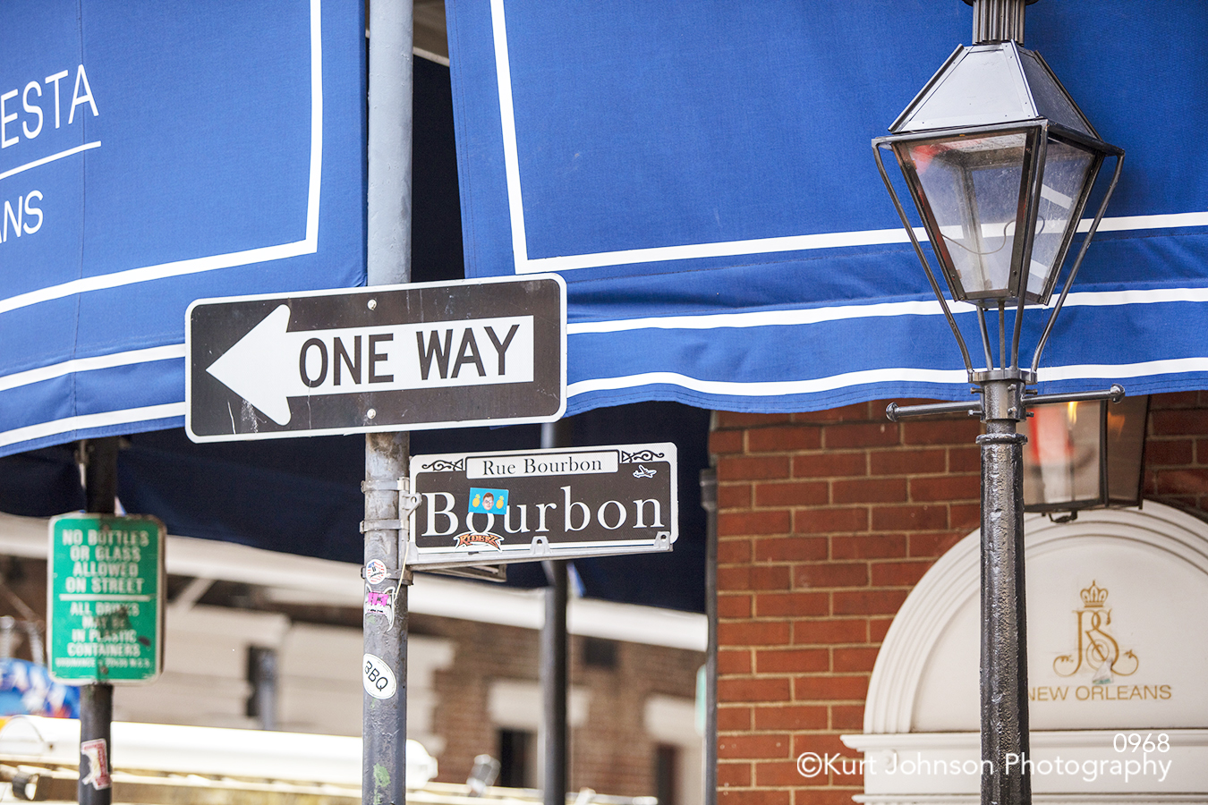 one way bourbon street new orleans city downtown historic architecture south southeast