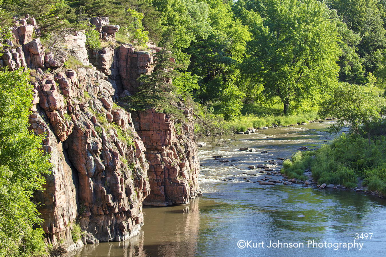 water rock stone green trees river stream waterscape