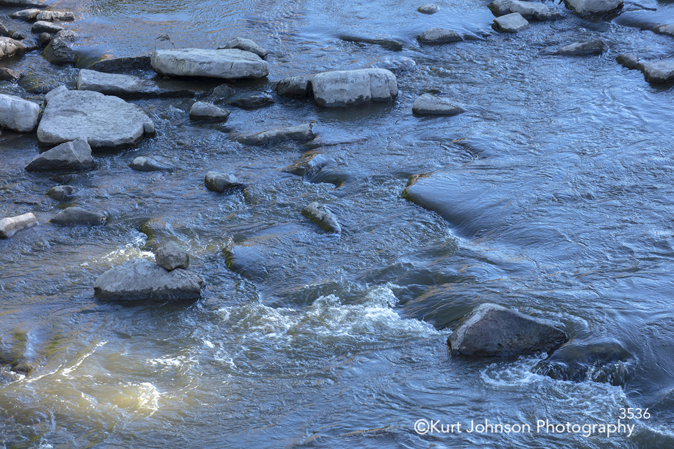 blue water close up rocks waves river stream waterscape