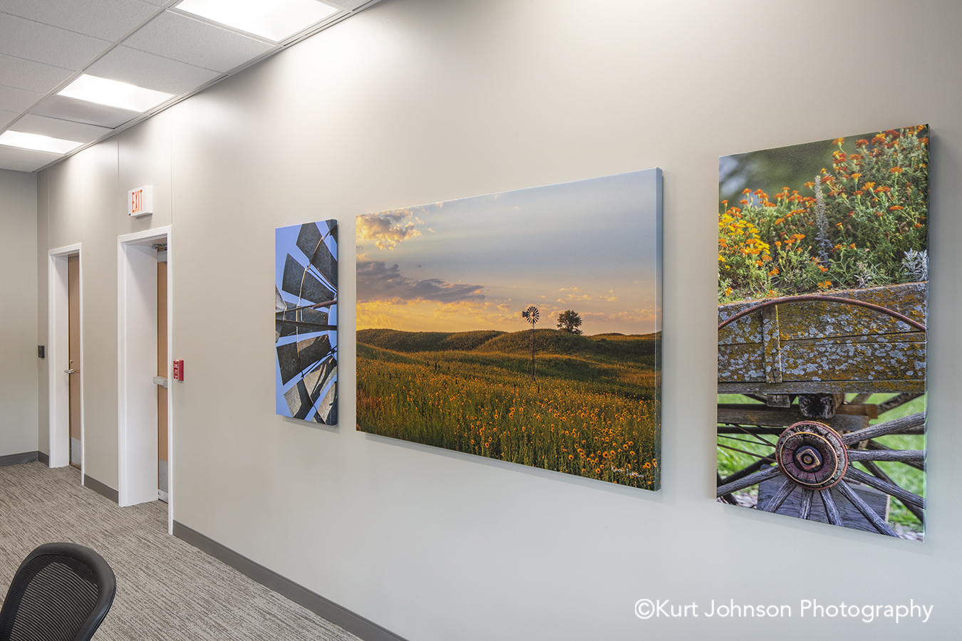 gallery wrapped canvas midwest landscape Norfolk Regional Health install healthcare hospital nature wall art