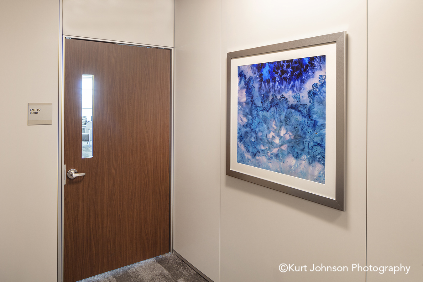methodist physicians clinic elkhorn best care silver frame framed wall art agate blue geode healthcare installation
